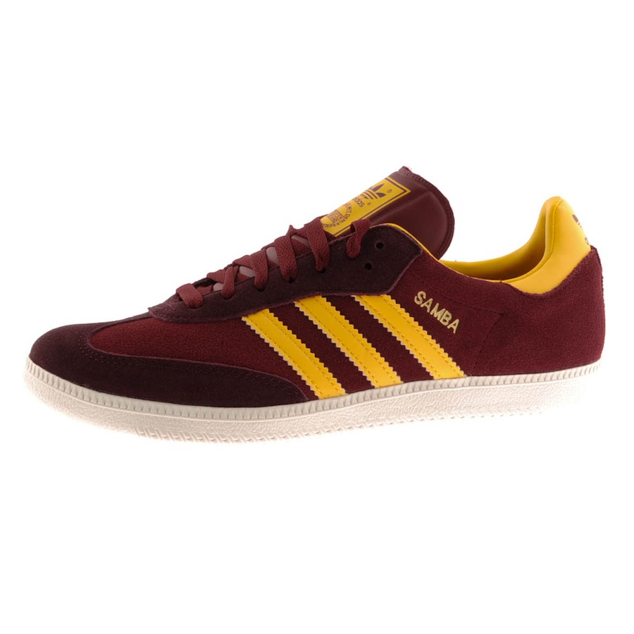 adidas originals samba trainers cardinal in red for men lyst. Black Bedroom Furniture Sets. Home Design Ideas