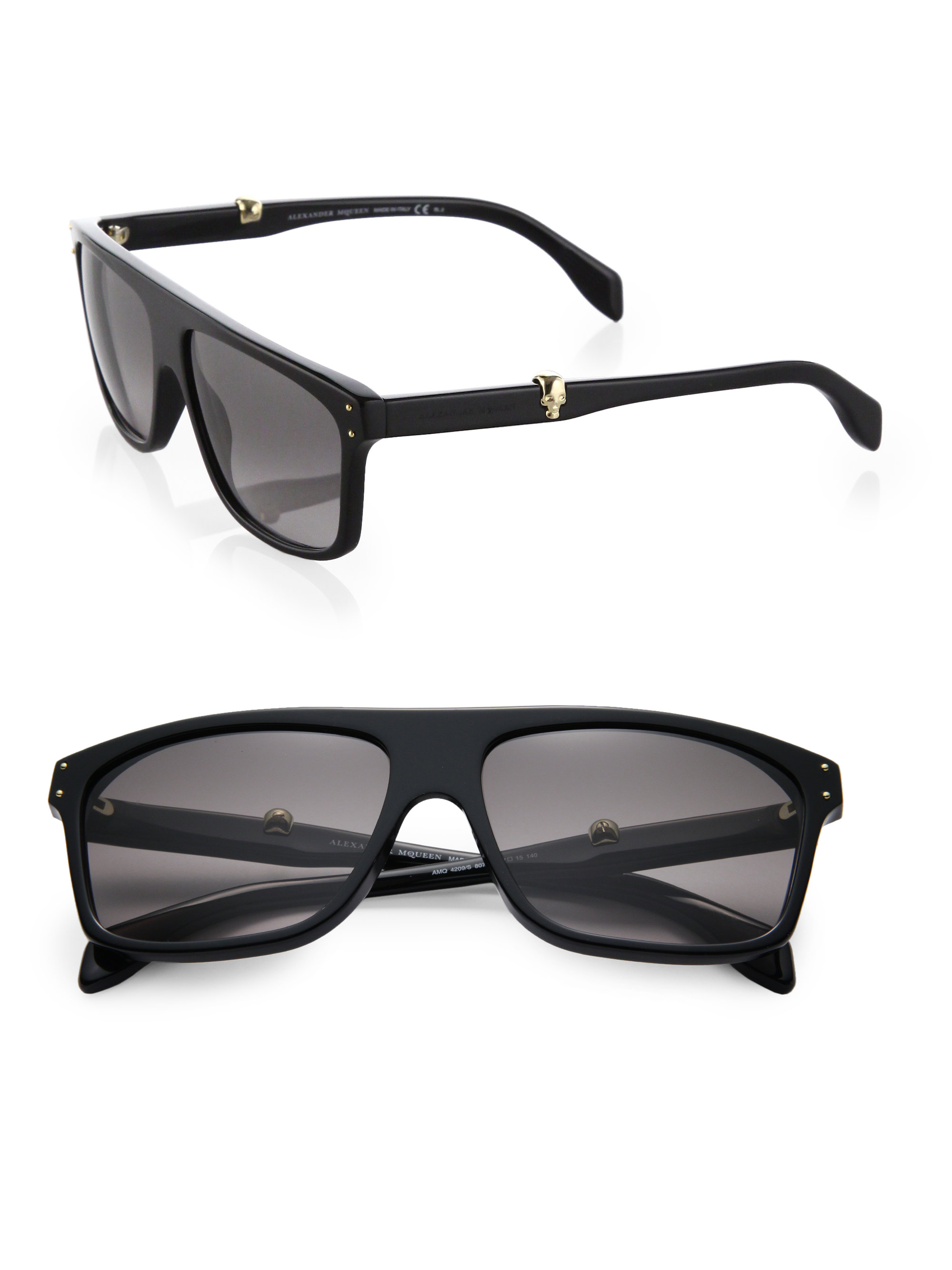 Alexander Mcqueen Sunglasses  alexander mcqueen skull wayfarer acetate sunglasses in black for