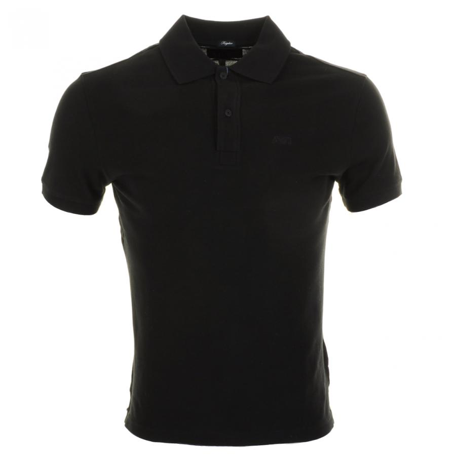 Armani jeans polo t shirt in black for men lyst for Polo shirt and jeans