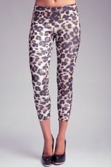 Bebe Printed Scuba Leggings - Lyst