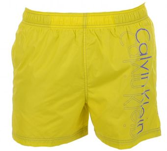 Calvin Klein One Placement Swim Shorts Sun - Lyst