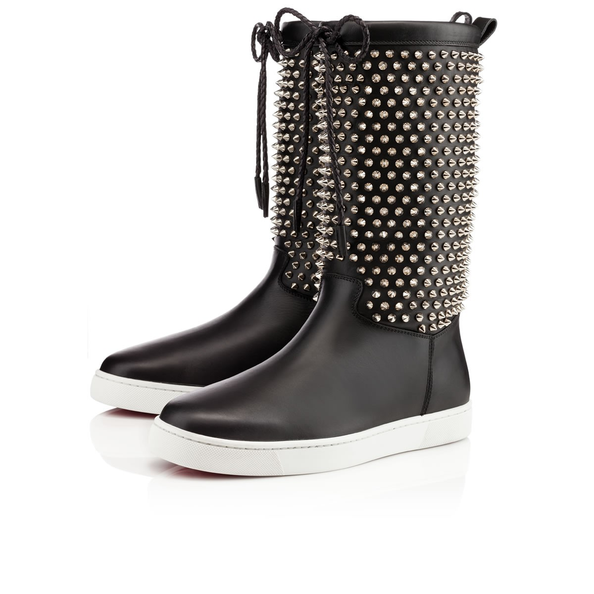 lyst christian louboutin naza spikes in black for men rh lyst com