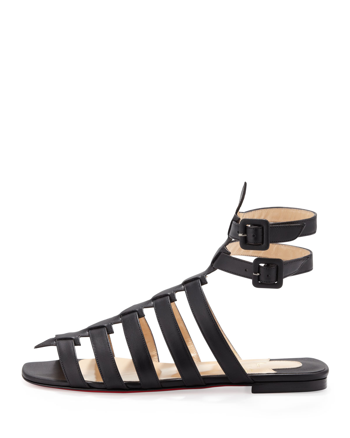 eac8158ef6c christian louboutin caged sandals Black suede