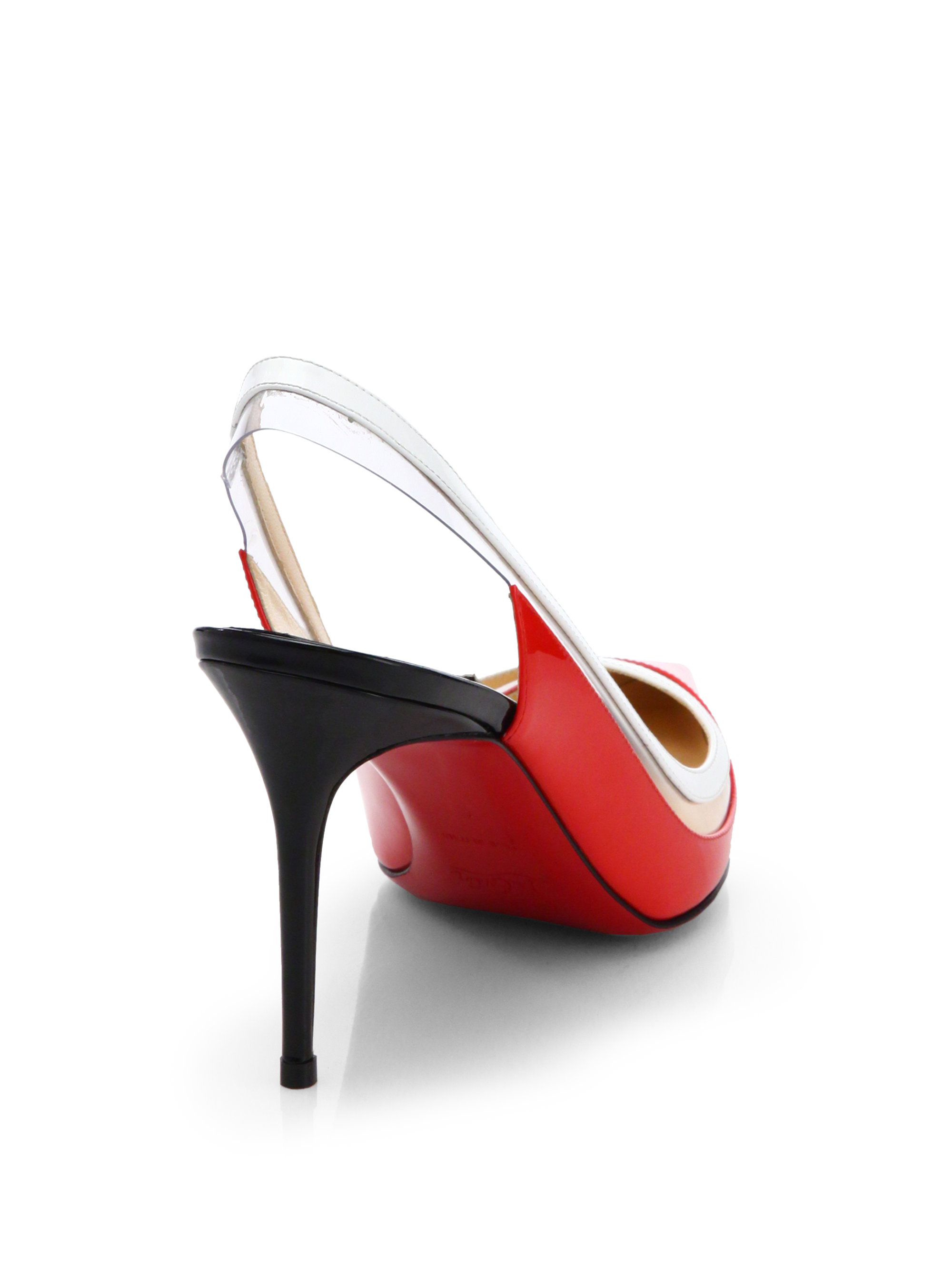 christian louboutin patent leather slingback pumps | cosmetics ...