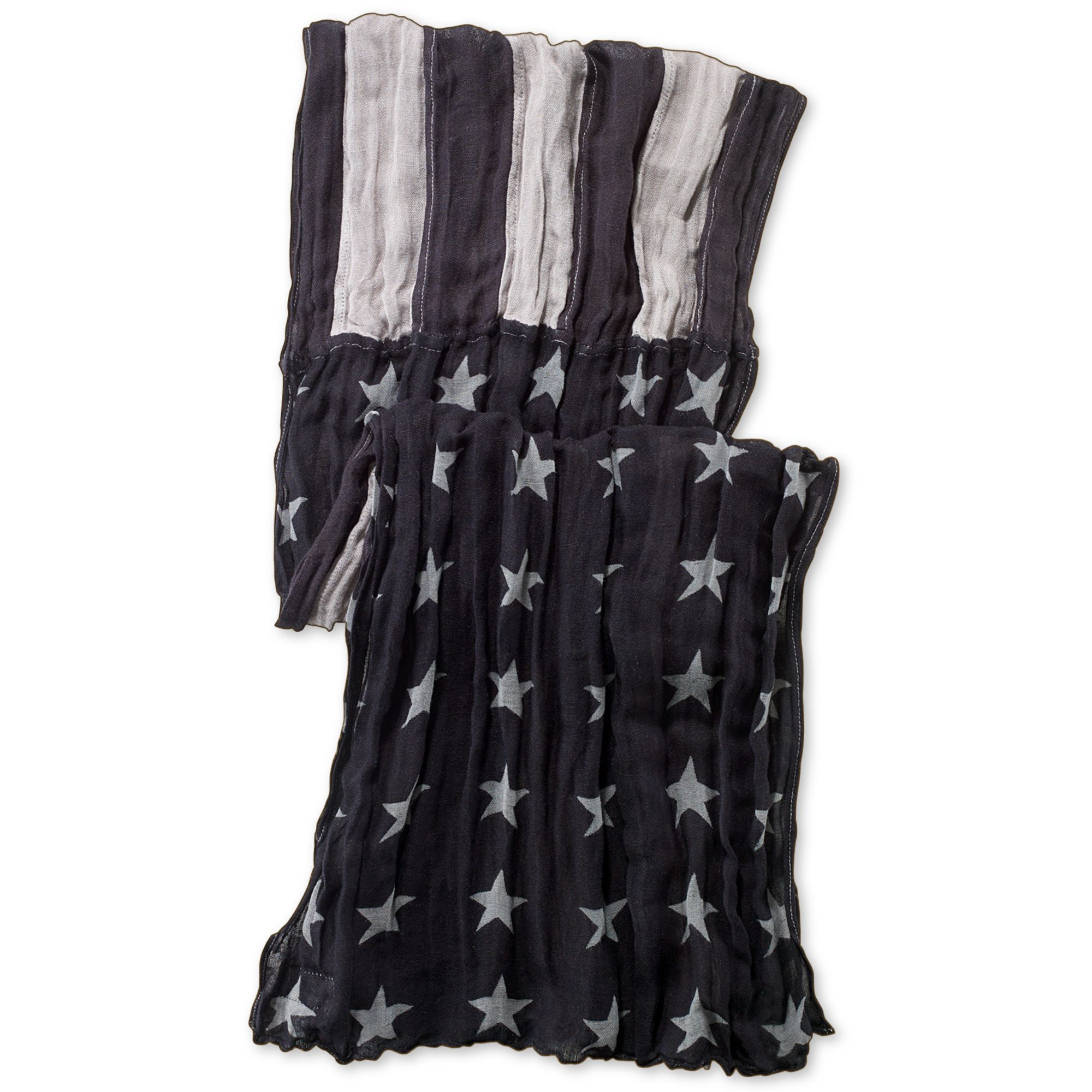 Denim & supply ralph lauren Black and Grey American Flag Scarf in ...