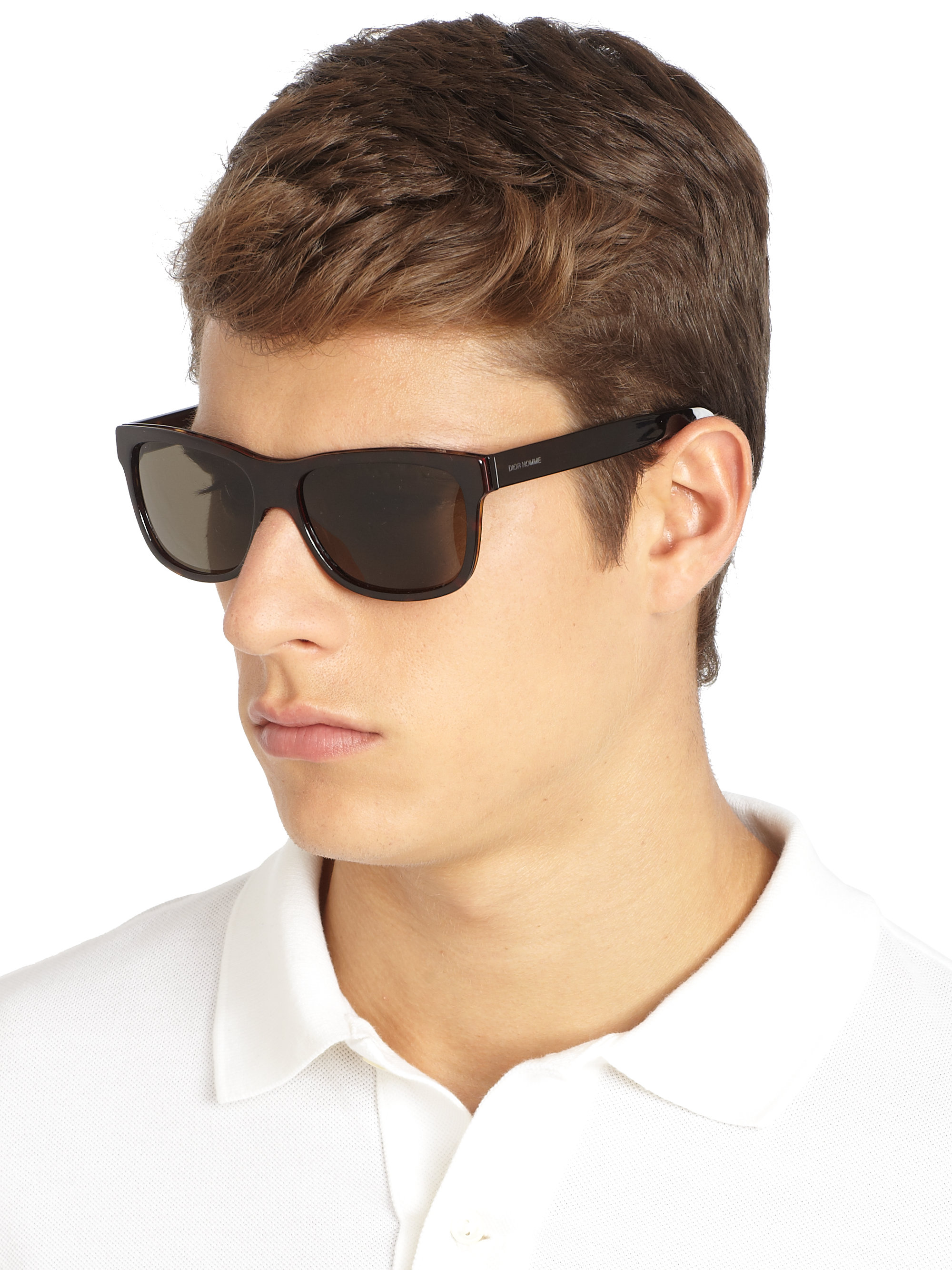 ccc9660bbbf Dior Homme Acetate Wayfarer Sunglasses in Black for Men - Lyst