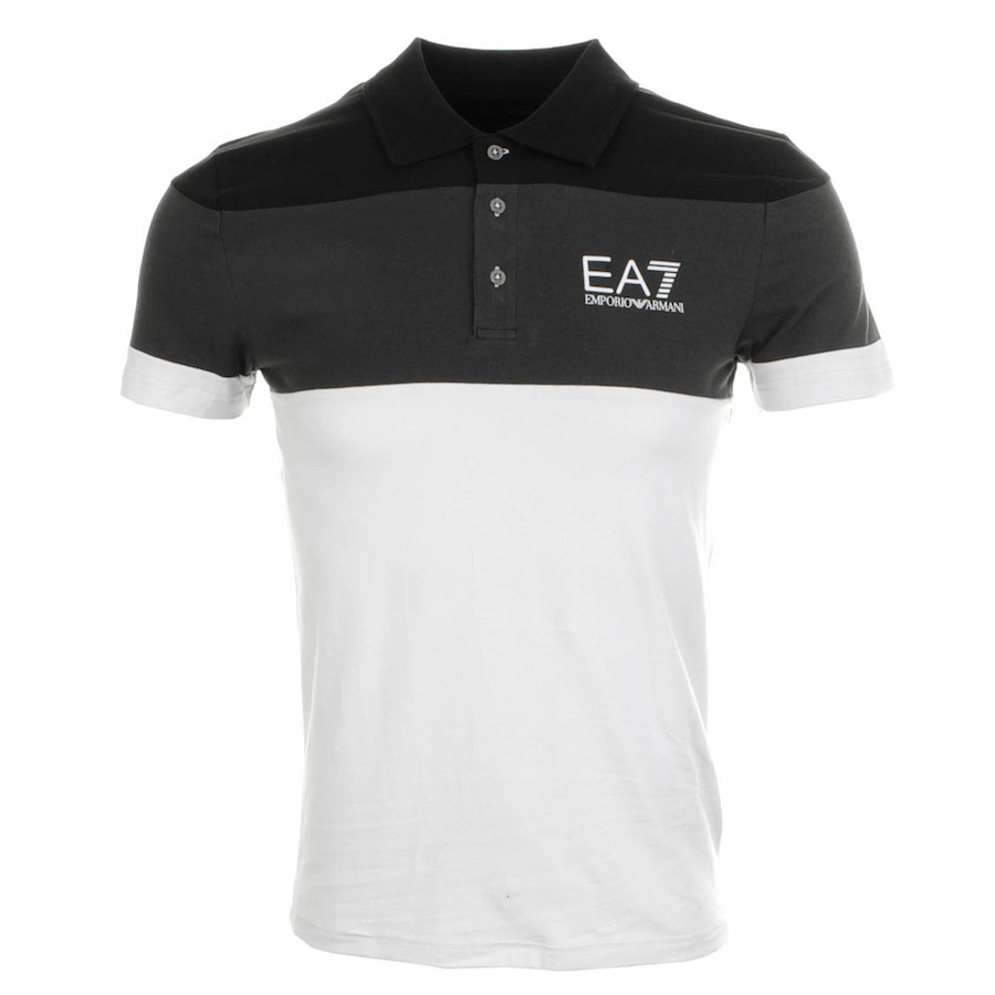 emporio armani train colour polo t shirt in white for men. Black Bedroom Furniture Sets. Home Design Ideas