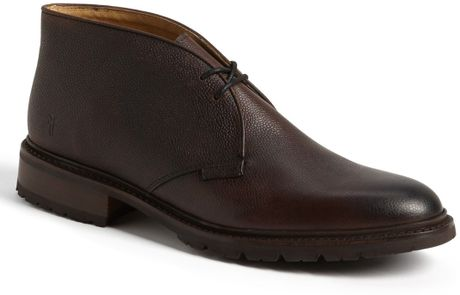 Frye James Lug Sole Chukka Boot In Brown For Men Dark