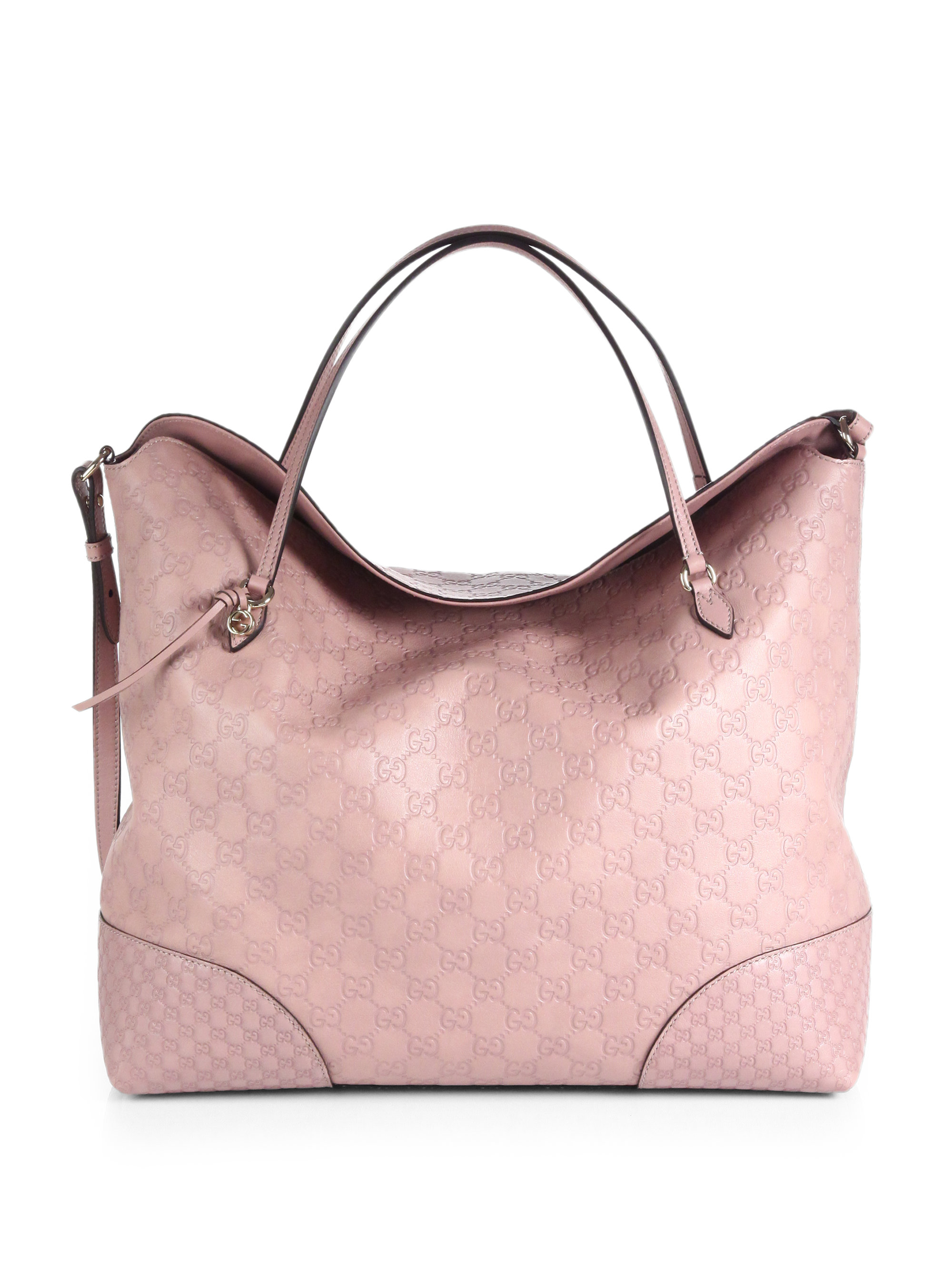 1e4f609f7e2 Lyst - Gucci Bree Ssima Leather Tote in Pink