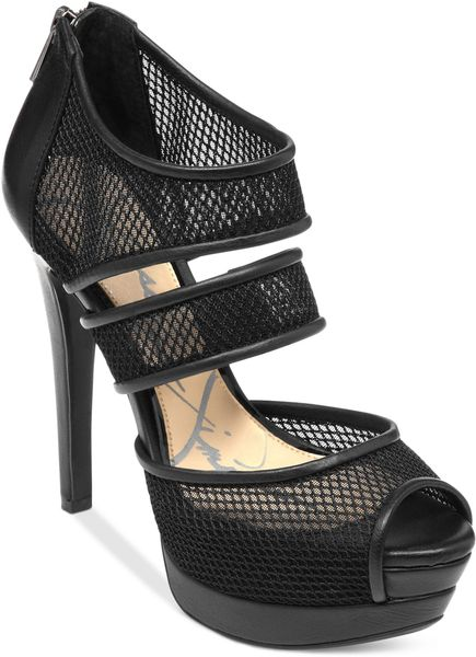 Jessica Simpson Platform Sandals in Black (Black Mesh) - Lyst