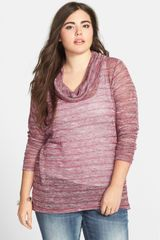 Jessica Simpson Freeda Haatchi Stripe Cowl Neck Sweater - Lyst