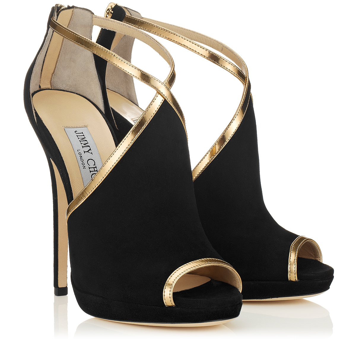 463556ce68e Jimmy Choo Fey High Heeled Shoes in Black - Lyst