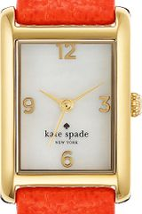Kate Spade Cooper Goldplated Metal and Leather Watch - Lyst