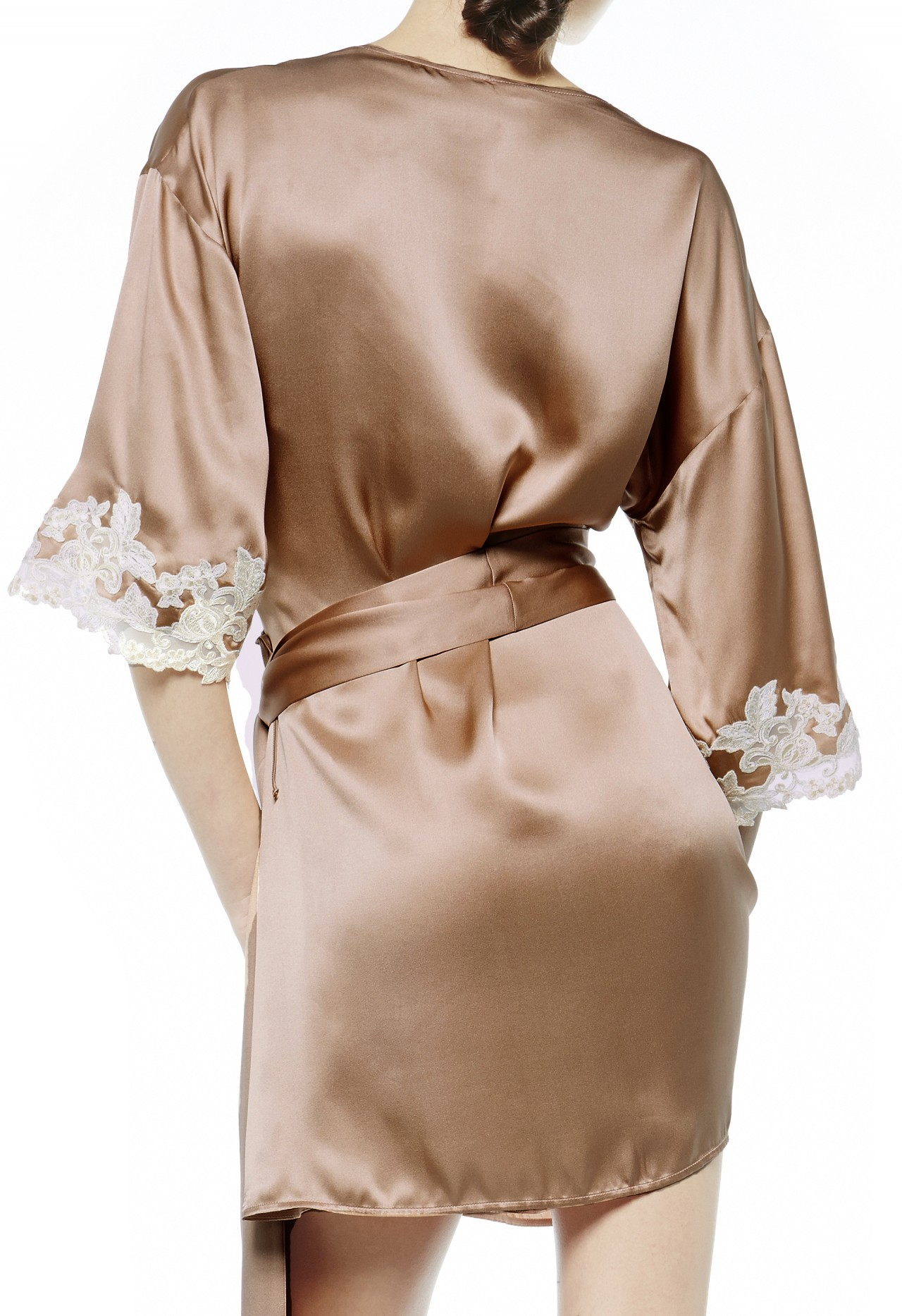 Beautiful Beige Dressing Gown Festooning - Images for wedding gown ...