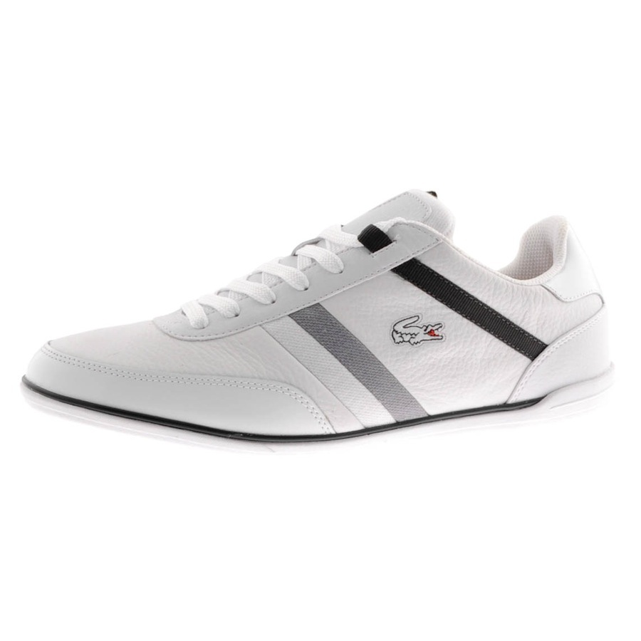 lacoste giron trainers in white for men lyst