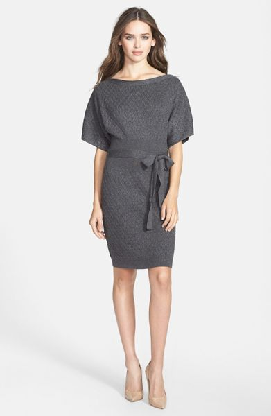 Laundry By Shelli Segal Zip Shoulder Kimono Sweater Dress ...