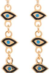 Maria Francesca Pepe Eye Charm Drop Earrings - Lyst