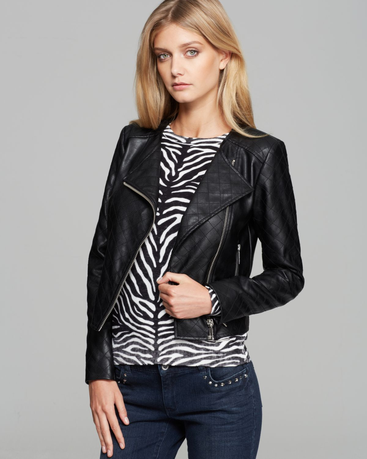 michael kors leather moto jacket