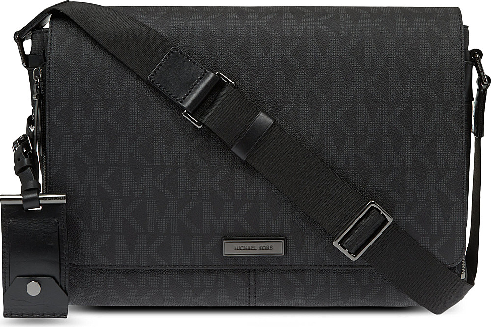 d3ff9491ce06 ... Michael Kors Signature Messenger Bag in Black for Men - Lyst ...