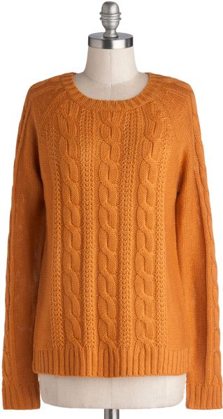 ModCloth Sugar and Pumpkin Spice Sweater - Lyst