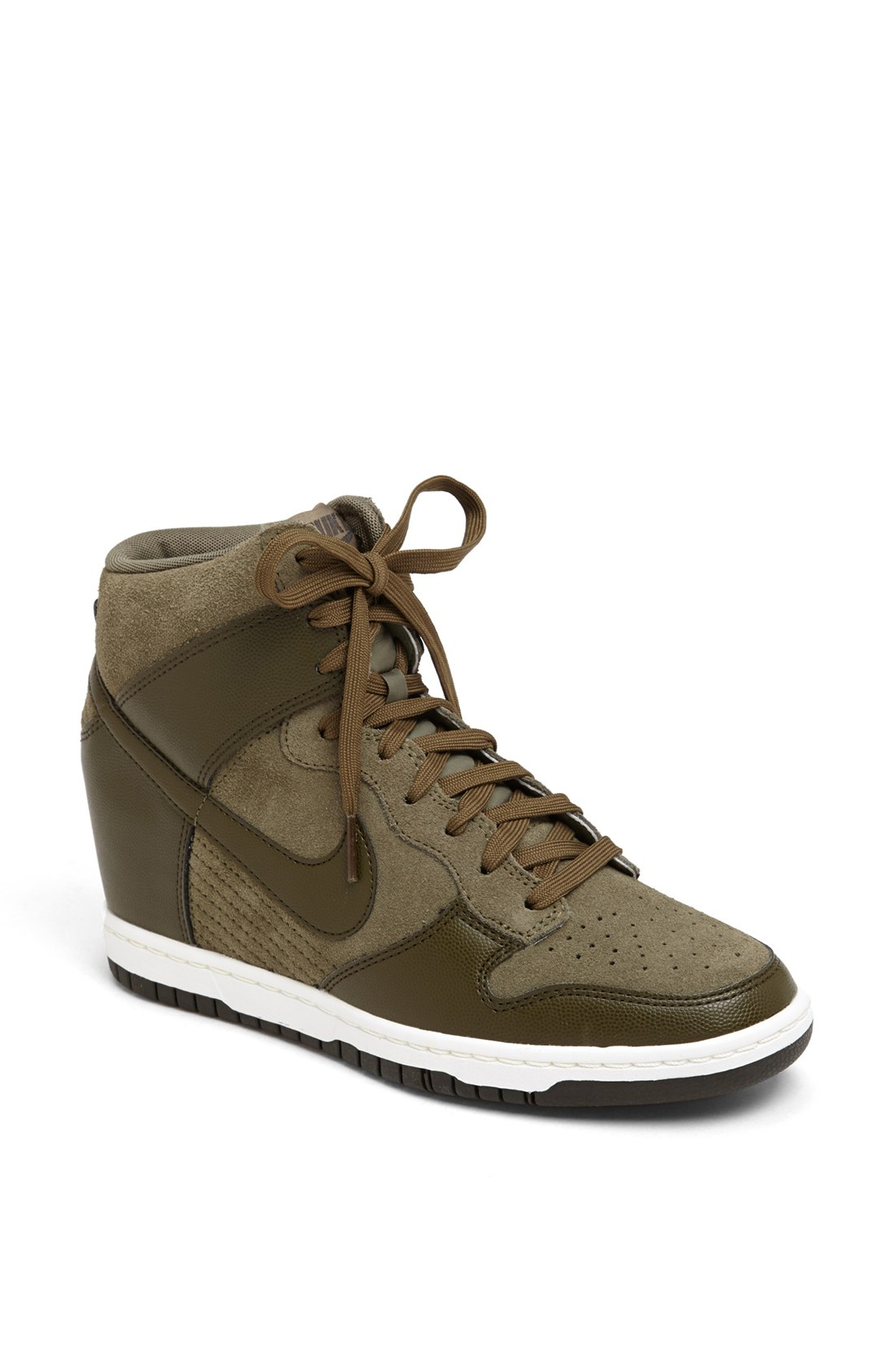 nike dunk sky hi wedge sneaker in gray dark loden dark loden. Black Bedroom Furniture Sets. Home Design Ideas