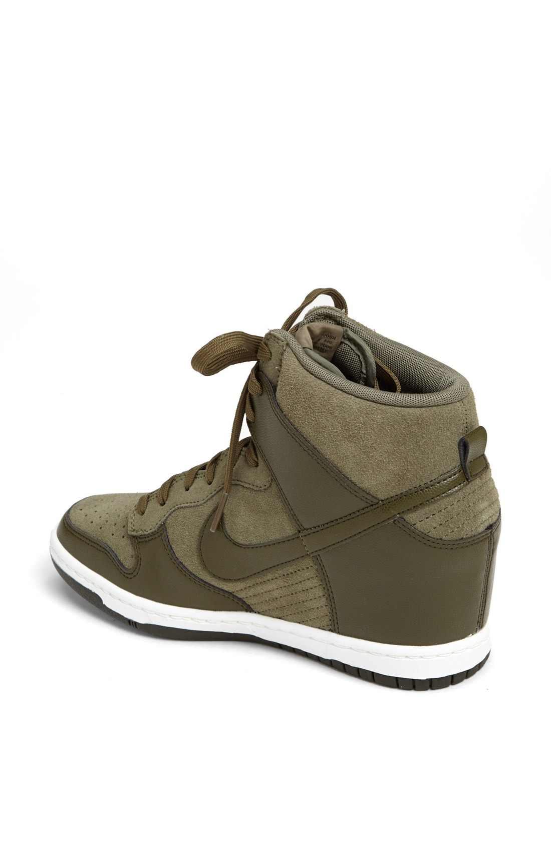nike dunk sky hi wedge sneaker in gray lyst