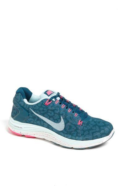 nike lunarglide 5 running shoe in blue sea teal