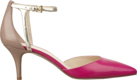 Nine West Magadore Two Piece Pump in Pink (PINK MULTI LEATHER) - Lyst