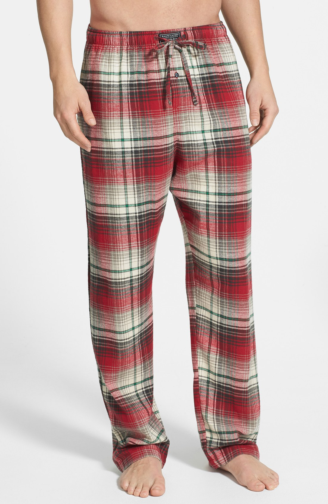 Polo Ralph Lauren Flannel Lounge Pants In Red For Men Red