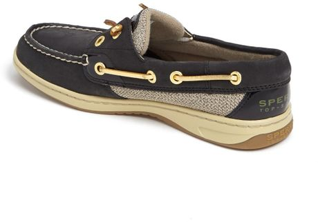 Sperry top sider rainbowfish boat shoe in black lyst for Best boat shoes for fishing