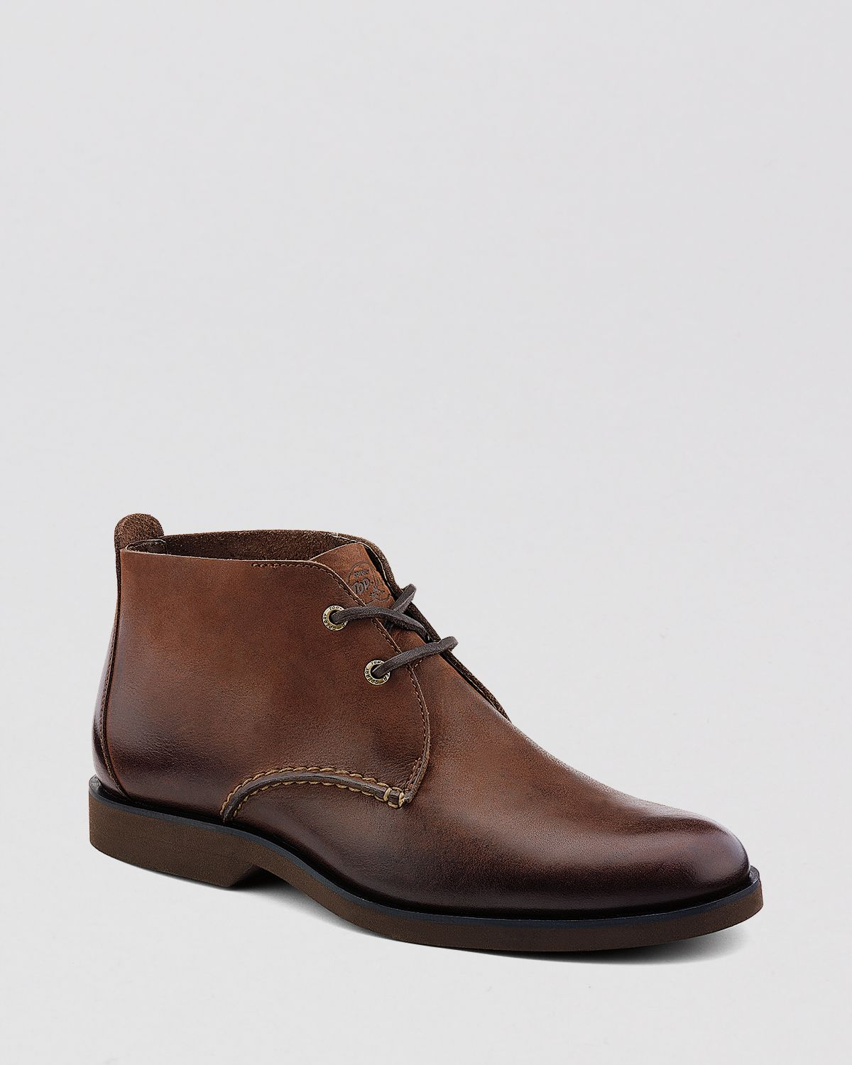 sperry top sider leather chukka boots in brown for
