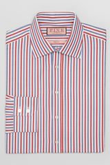 Thomas Pink Reating Stripe Dress Shirt Contemporary Fit - Lyst