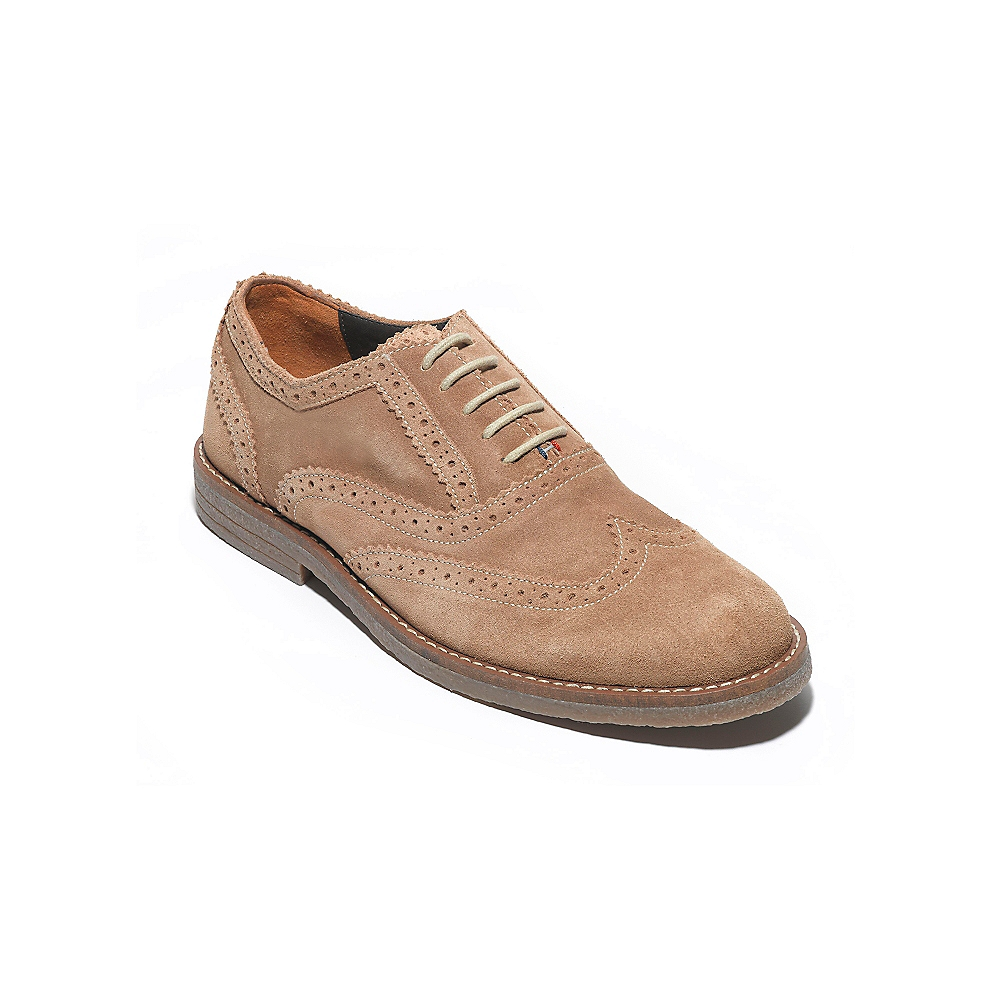 hilfiger suede oxford shoe in beige for dingo