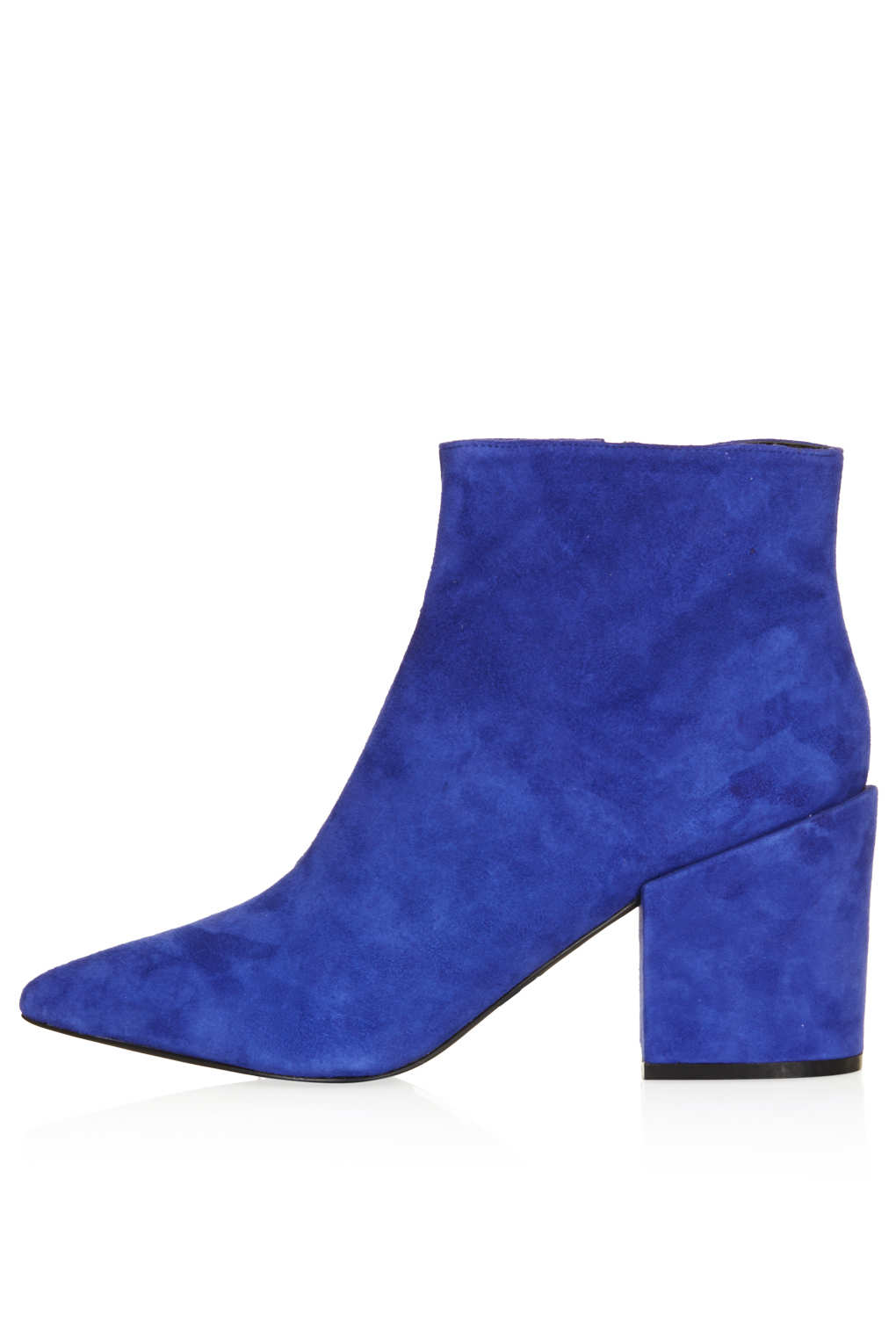 genuine shoes detailing exclusive deals TOPSHOP Blue Aba Pointed Ankle Boots