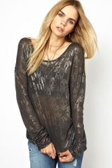 Zadig & Voltaire Zadig and Voltaire Cashmere Mix Jersey Top in Skull Print - Lyst