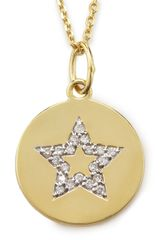 Kc Designs Diamond Star Disc Necklace - Lyst