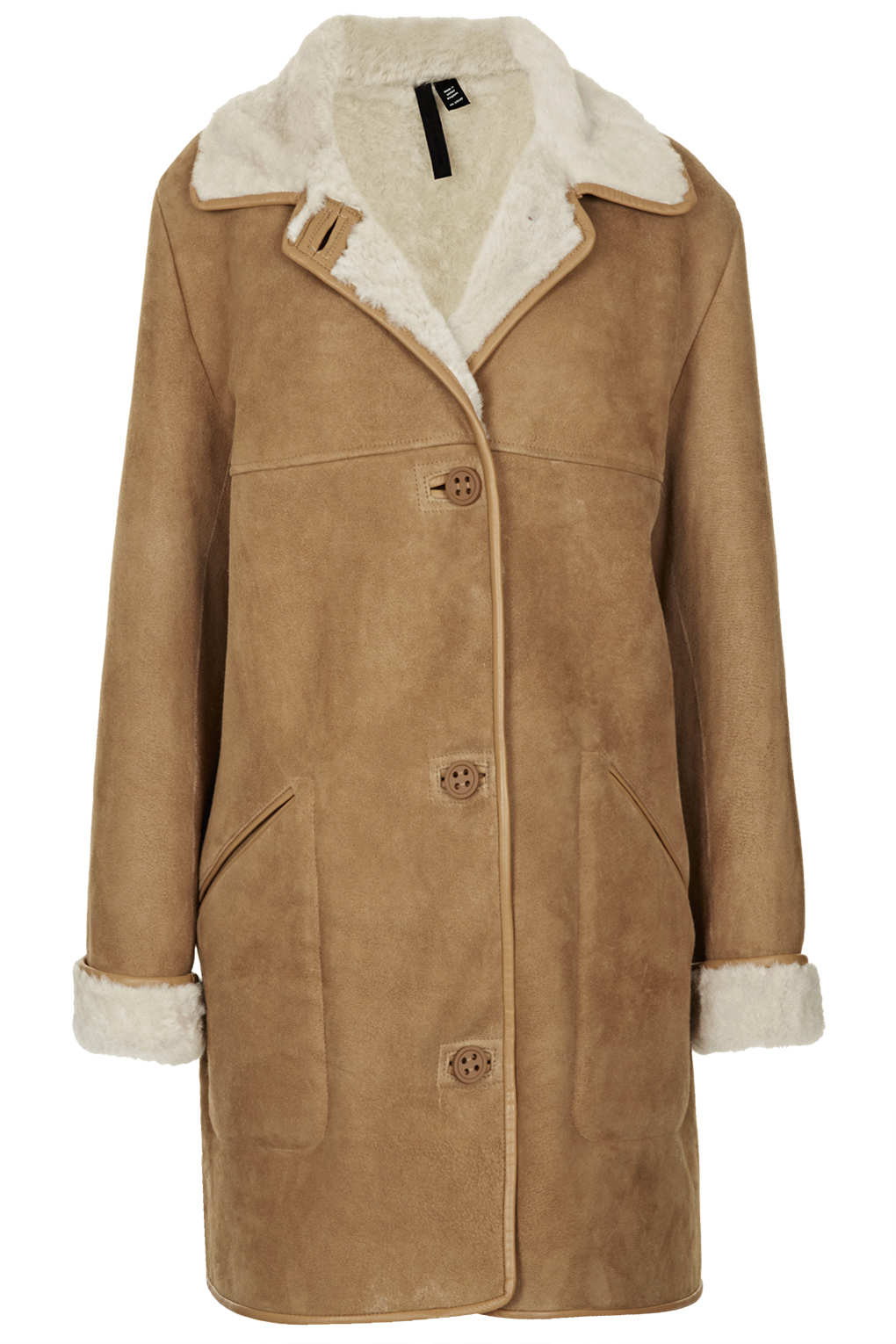 Topshop Ultimate Sheepskin Coat By Boutique in Brown | Lyst