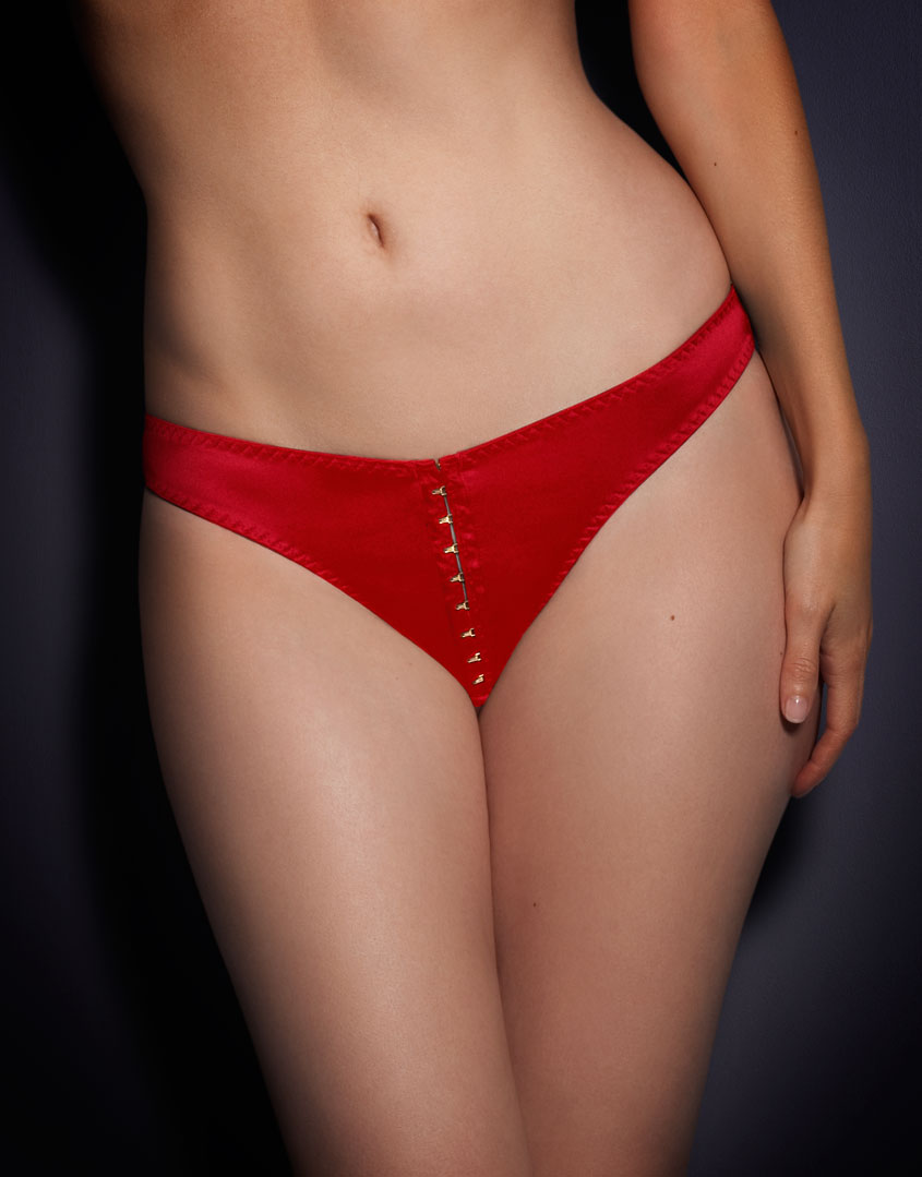 6910dc31a39 Agent Provocateur Jena Thong in Red - Lyst
