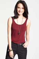 Ann Taylor Scoop Neck Tank - Lyst