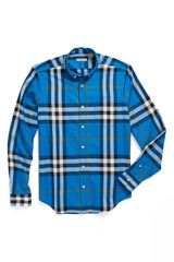 Burberry Brit Niall Check Trim Fit Cotton Sport Shirt - Lyst