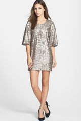 Dress The Population Brooklyn Sequin Shift Dress - Lyst