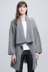 Elizabeth And James Oversize Fuzzy Knit Cardigan - Lyst