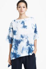 Eskandar Abstract Print Linen Tee - Lyst