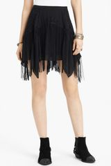 Free People Foam Of Daze Fringed Skirt - Lyst
