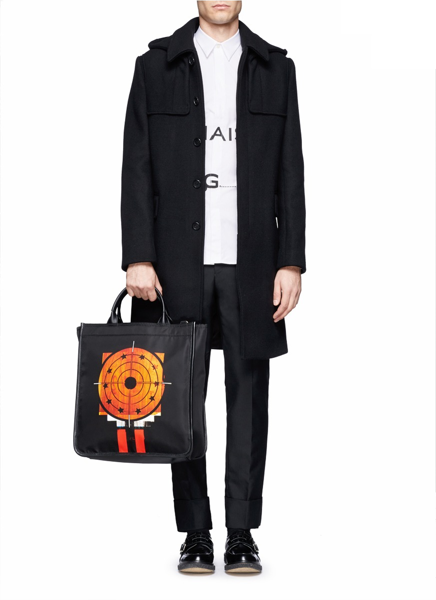 Givenchy Hooded Long Wool Coat in Black for Men | Lyst