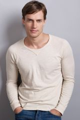 Graham & Spencer Owen Classic Slub Raglan Top - Lyst