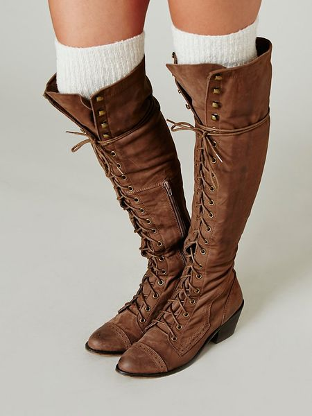 Jeffrey Campbell Joe Lace Up Boot In Brown Light Brown