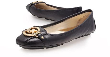 michael kors fulton moc ballerina shoes in black lyst. Black Bedroom Furniture Sets. Home Design Ideas