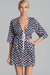 Milly Zig Zag Ava Coverup Tunic - Lyst