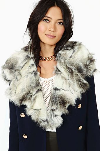 Nasty Gal Georgie Faux Fur Collar - Lyst